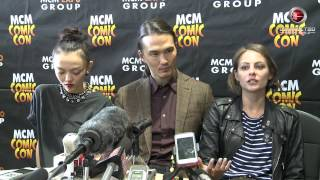 In this panel interview shot at MCM Comic-Con in London in May 2015...