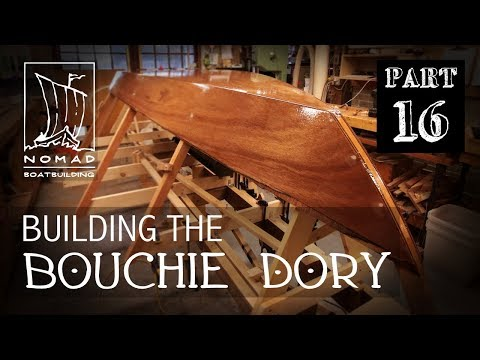 Building The Bouchie Dory Pt.16 - Fibreglassing The Garboards