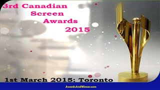 2015 Canadian Screen Awards Winners in Television Division