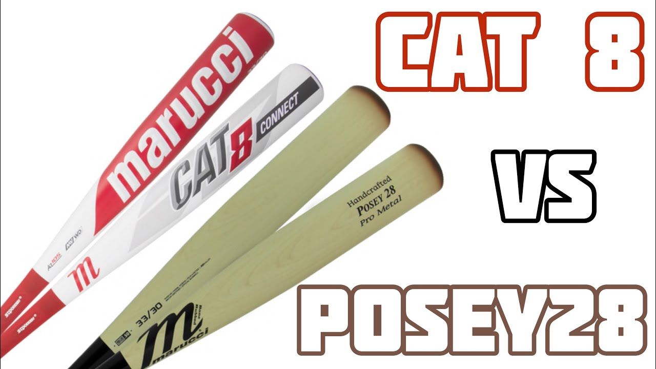 Marucci Posey28 Pro Metal vs  Marucci Cat 8 Bat Review
