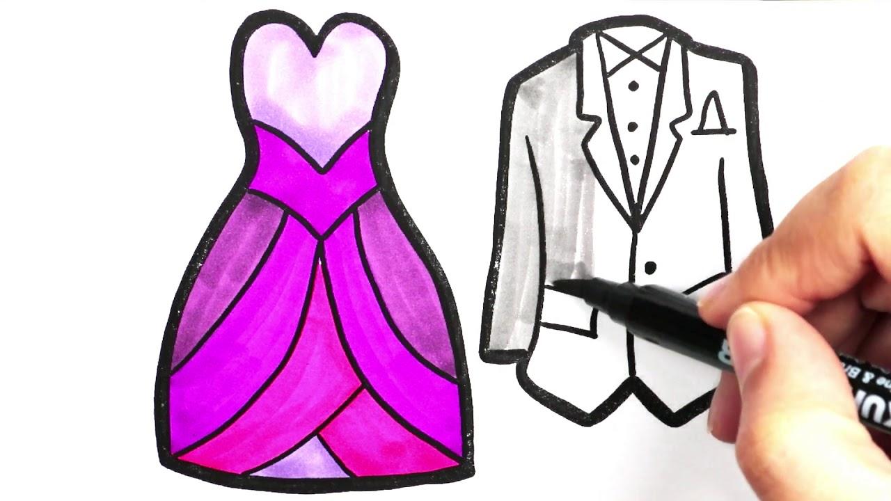 Prens Prenses Kostümü Boyama Renkleri öğreniyorum Boyama Sayfası