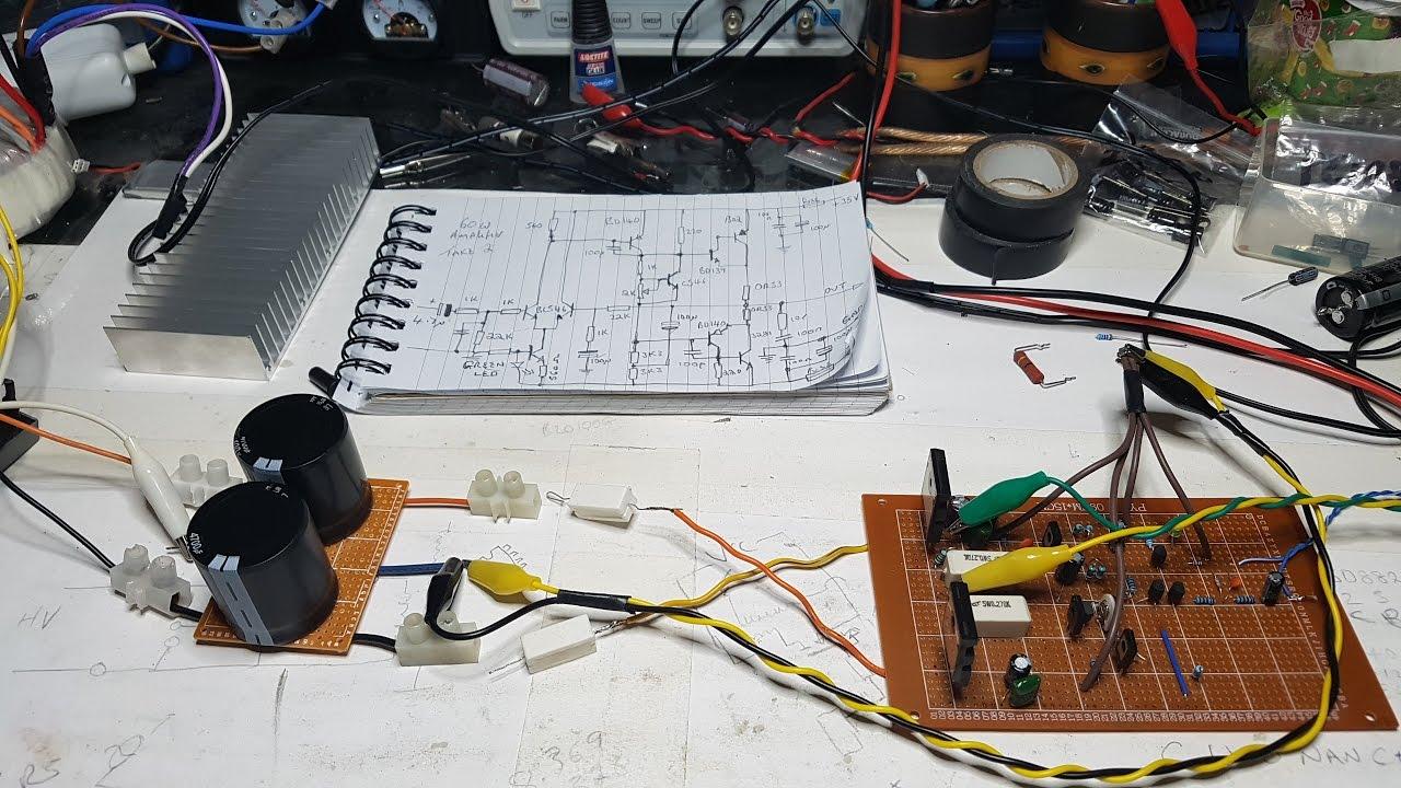 60 Watt Amplifier Attempt 2 Pt Youtube Circuit