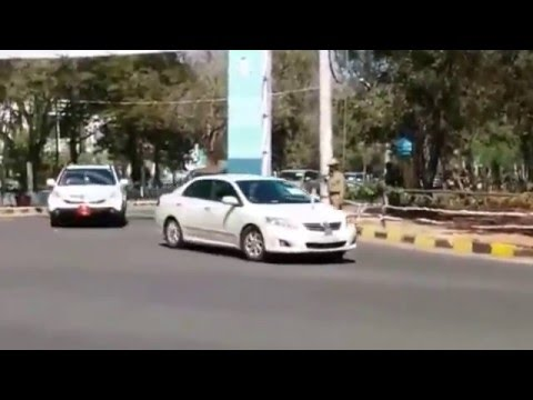 Narendra Modi BMW Car Mysore
