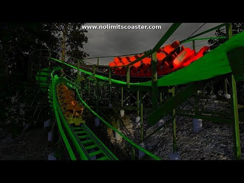 NoLimits 2 : Uranium, dueling wooden coaster (Gravity Group)