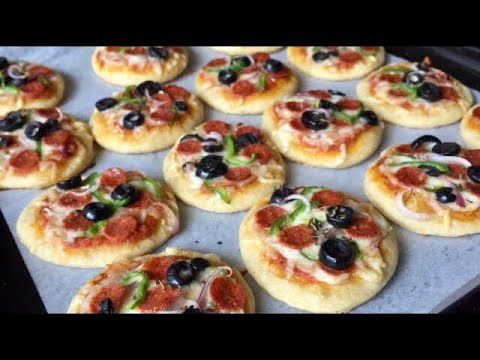 Homemade Mini Pizza Recipe | Healthy Pizza Dough | Em's Kitchen
