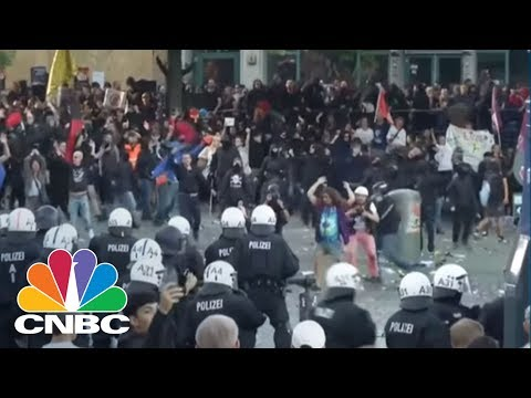 Protesters And Police Clash In Hamburg, Germany, Before G-20 Summit | CNBC