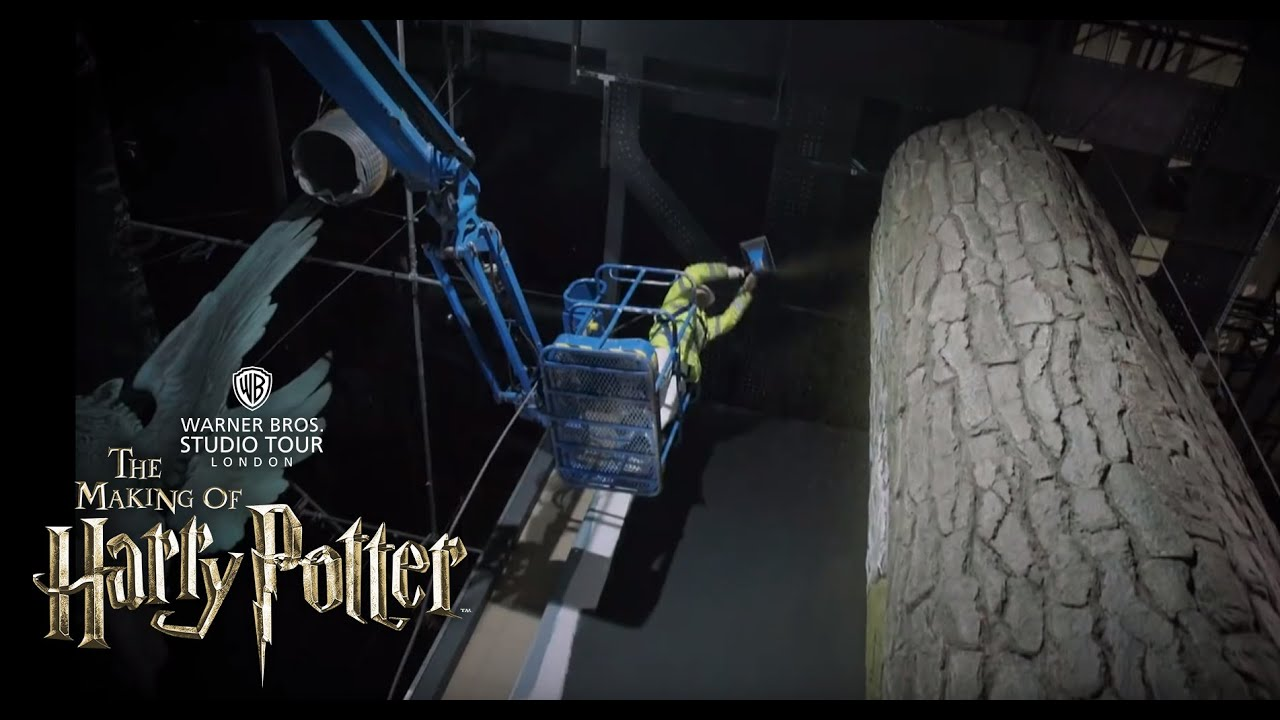 tree mossing in the forbidden forest warner bros studio tour london youtube. Black Bedroom Furniture Sets. Home Design Ideas