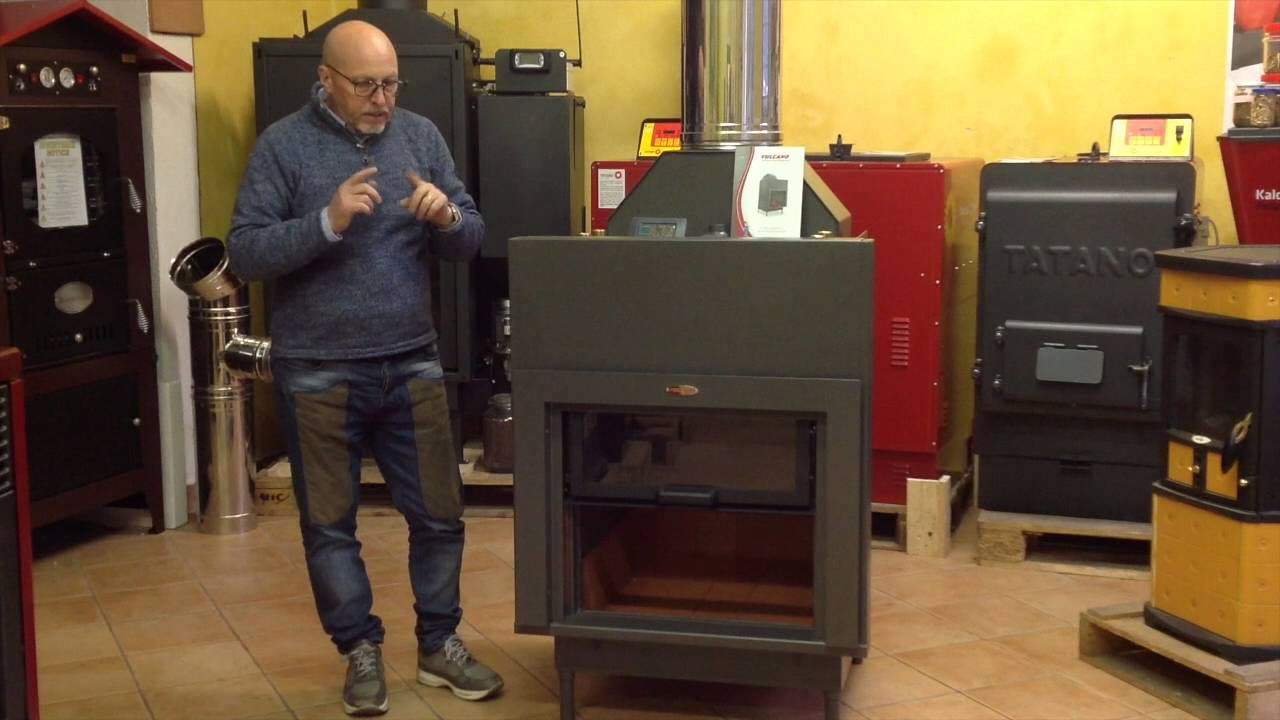 Termocamino A Pellet : Termocamino a legna vulcano youtube