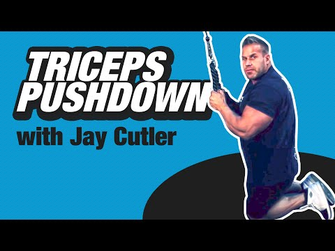 Tricep Pushdown with Jay Cutler - Train Like A Pro - BPI Sports Ep. 4