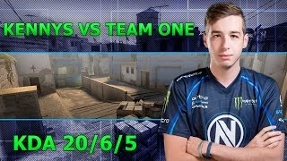 POV kennyS vs Team oNe - Mirage | KDA 20/6/5