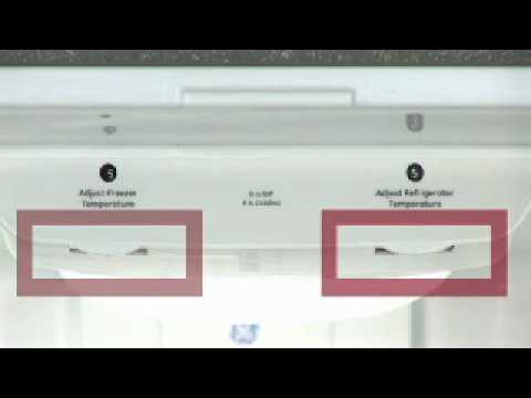 Adjusting Bottom Freezer Refrigerator Temp Controls