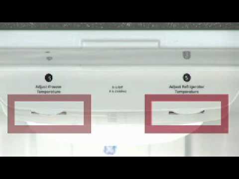 Adjusting Bottom Freezer Refrigerator Temp Controls - Knobs - YouTube
