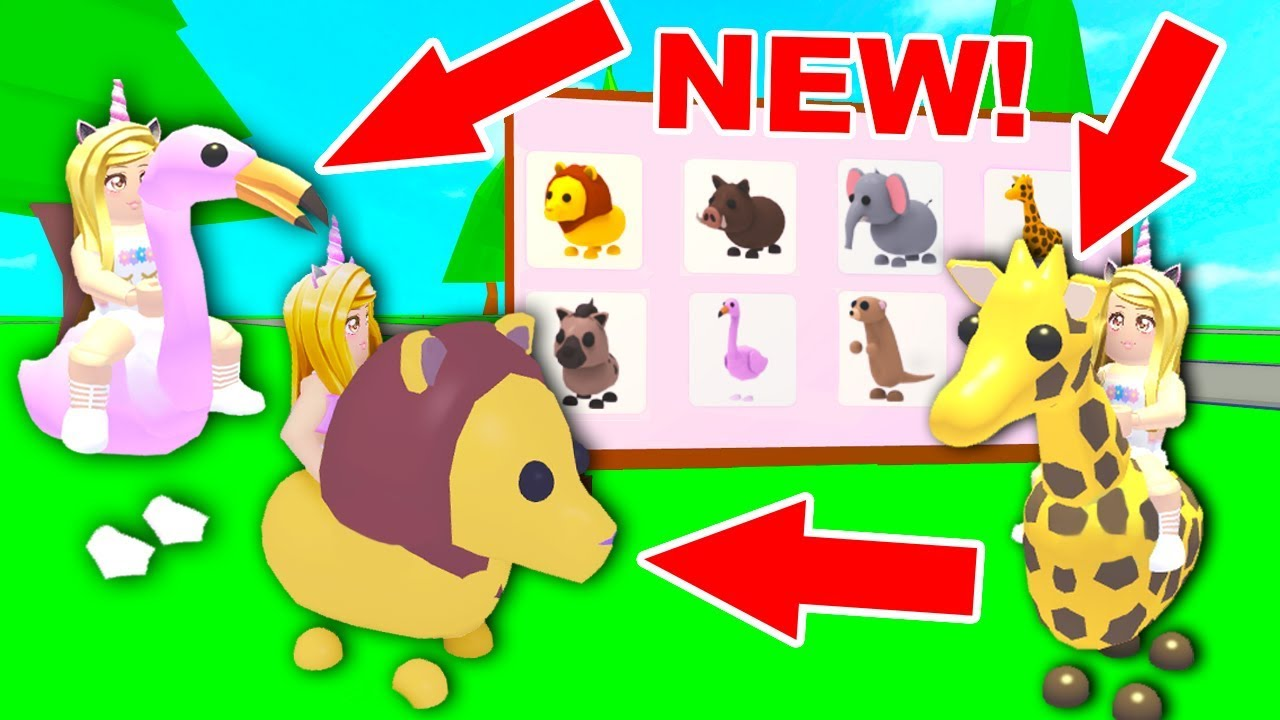Riding All The New Safari Pets In Adopt Me Roblox Youtube