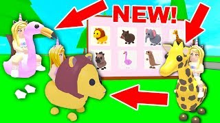 Riding ALL The NEW SAFARI PETS In Adopt Me! (Roblox)
