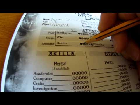 World Of Darkness Character Creation