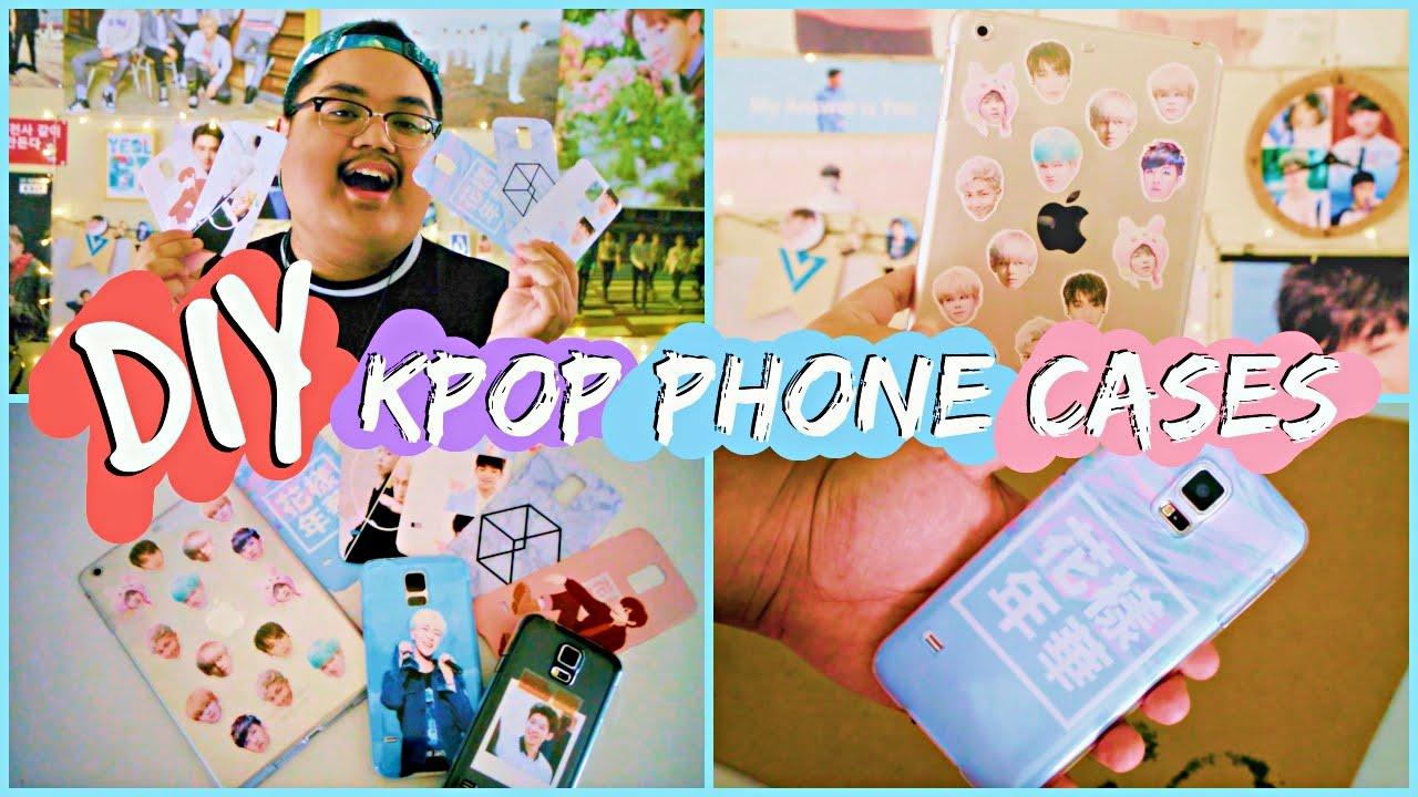 Diy Kpop Phone Cases Bts Exo Etc Kpopamoo Youtube