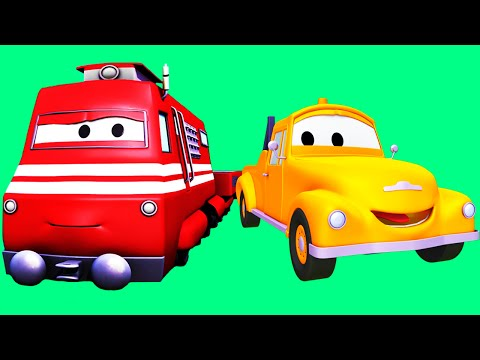 Tom la Dépanneuse et ses amis le Train et la Super Patrouille à Car City | dessin animé pour enfant