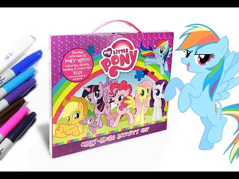 Thumbnail: My little pony Carry along activity set mlp coloring for kids