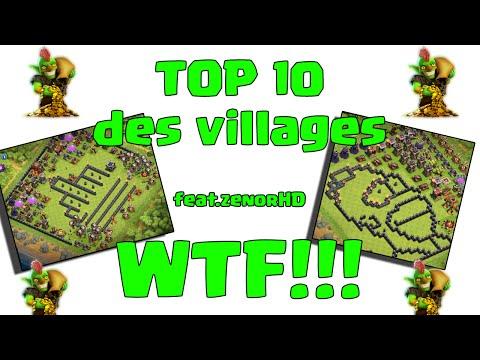Clash of Clans-Top 10 Villages WTF ! Feat ZenorHd