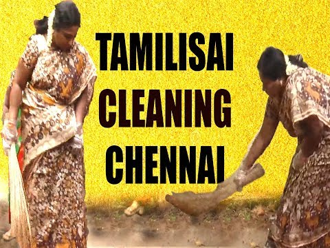 Tamilisai Cleaning Chennai Streets | சாலையை சுத்தம் செய்யும் தமிழிசை | IBC Tamil
