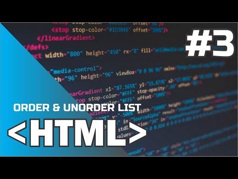 #3 ORDER & UNORDER LIST - Hyper Text Markup Language