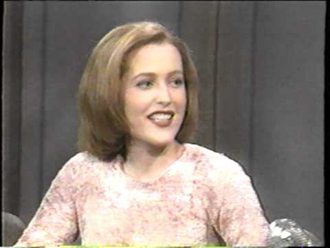 Gillian Anderson's first Letterman appearance full