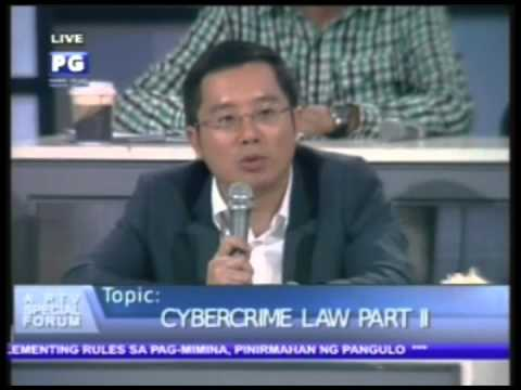 Part 2: Anti-Cybercrime Law Part II - PTV Special Forum  [Oct. 05, 2012]