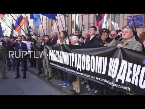 Ukraine: Far-right and LGBT activists protest against new labour code