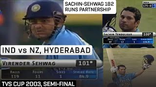India vs New Zealand 2003 TVS Cup at Hyderabad Highlights   Match No. 9   Sehwag, Sachin Century