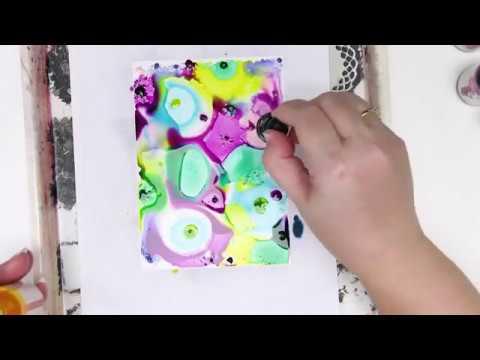 Jane Davenport INKredible Inks on Yupo Paper