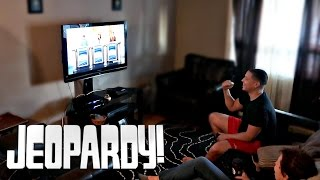 JEOPARDY PRANK ON MOM!! (GETTING EVERY QUESTION RIGHT)