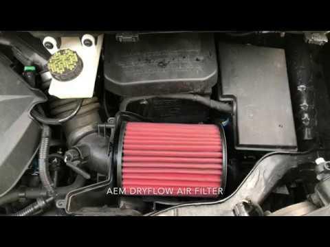 Stock vs AEM Dryflow Air Intake Filter 2014 Ford Escape SE 1.6L Ecoboost