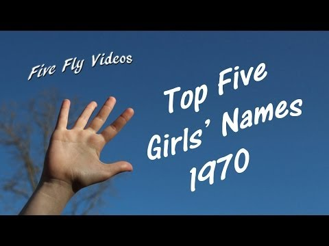 Top Five GIRLS NAMES 1970 - Popular Female Names