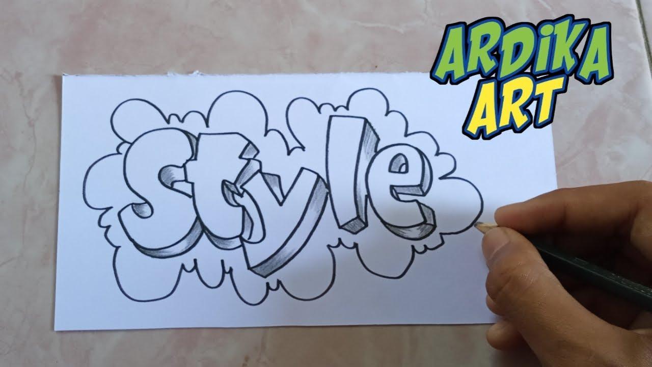 Wow Tutorial Menggambar Tulisan Grafiti Keren Youtube