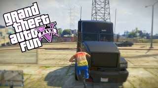 GTA 5 Fun: Spare Parts Edition #2 - Mini Adventure, Truck Launch, Bike Kick