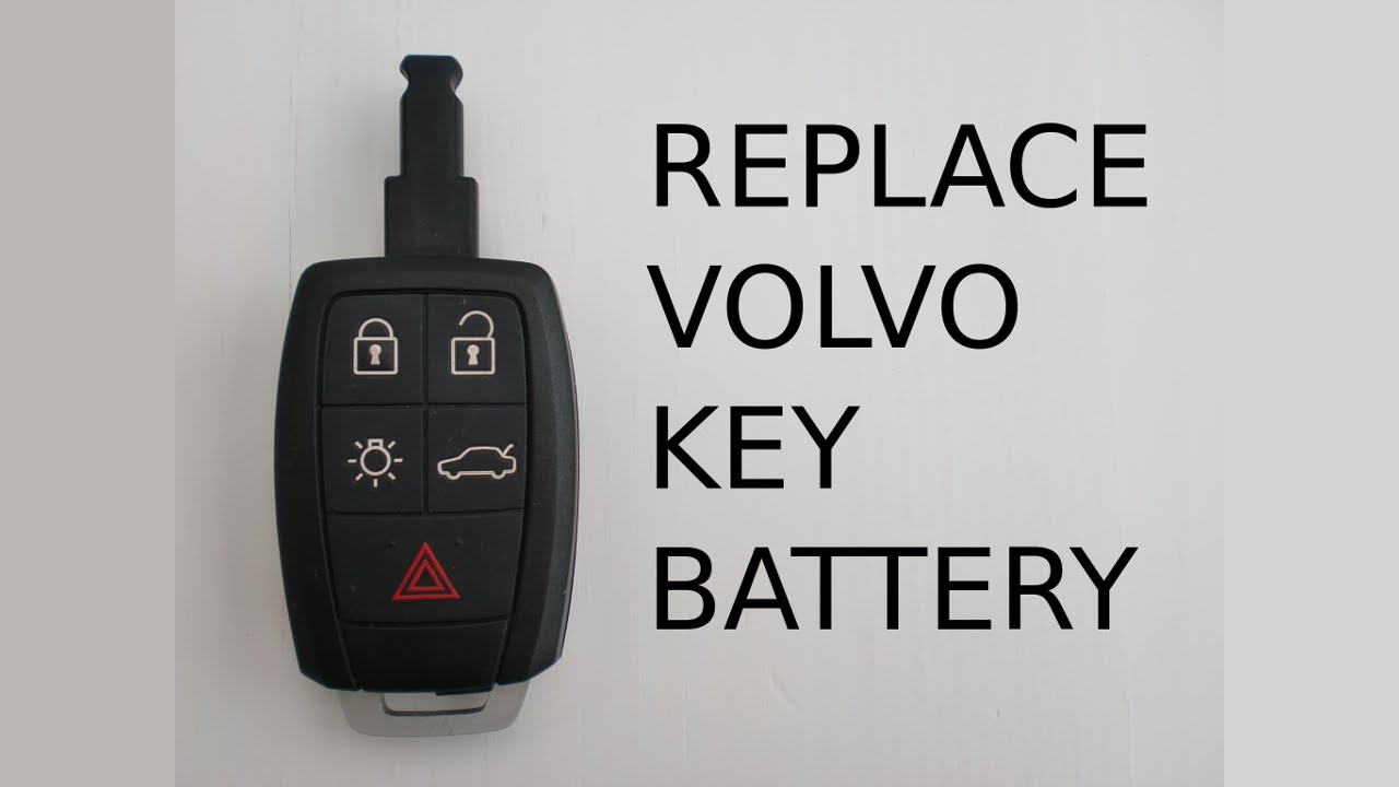 How to change remote key fob battery in Volvo S40 V50 V70 ...