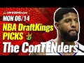 DRAFTKINGS NBA DFS PICKS TODAY | Top 10 ConTENders Mon 6/14 | NBA DFS Simulations