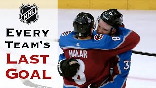 Every NHL Team's Last Goal Before the Paused Season