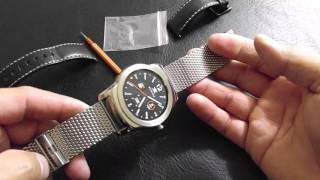Ritche 22mm Mesh Stainless Steel Bracelet