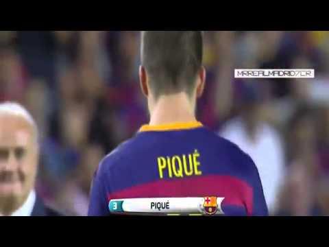 Gerard Pique Red Card ~ FC Barcelona vs Athletic Bilbao 1:1 Spain Super Cup 17/08/2015