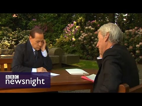 TRAIL: Interview with Silvio Berlusconi - Newsnight