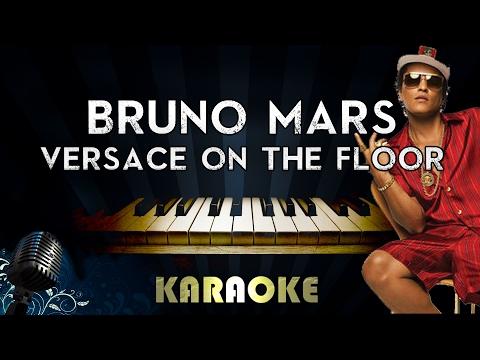Bruno Mars - Versace on The Floor (LOWER Key Piano Karaoke/Instrumental/Lyrics)