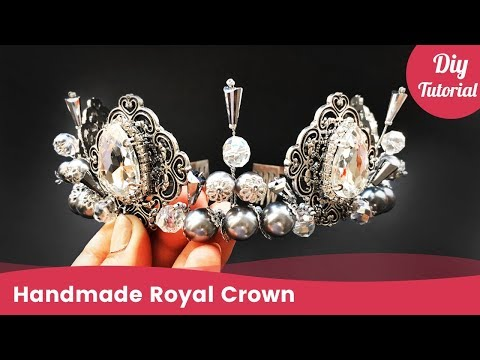 How to Make Handmade Royal Crown. DIY Tiara Ideas for Beginners.