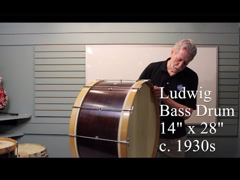 4 Vintage Ludwig Drums (1920s-30s) in Amazing Condition!