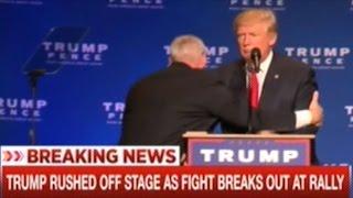Secret Service Rush Donald Trump Off Stage At Rally In Reno Nevada!