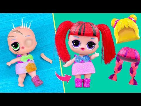 10 идей для старых кукол Барби и ЛОЛ Сюрприз