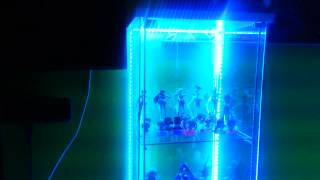 Glass Curio Display Cabinet With Led Lights