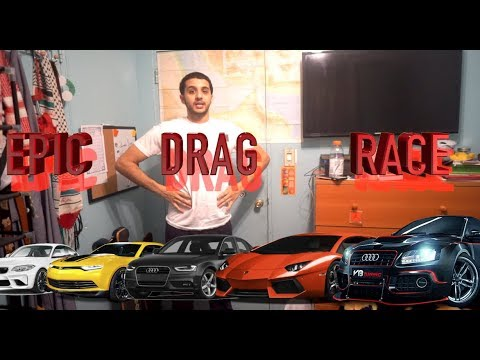 SETTING UP A CRAZY DRAG RACE!!!! | Yousif Saleh