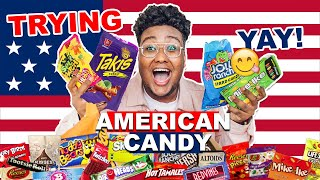 BRITISH TRYING AMERICAN CANDY... TAKIS & Breakfast Cereal for the first time