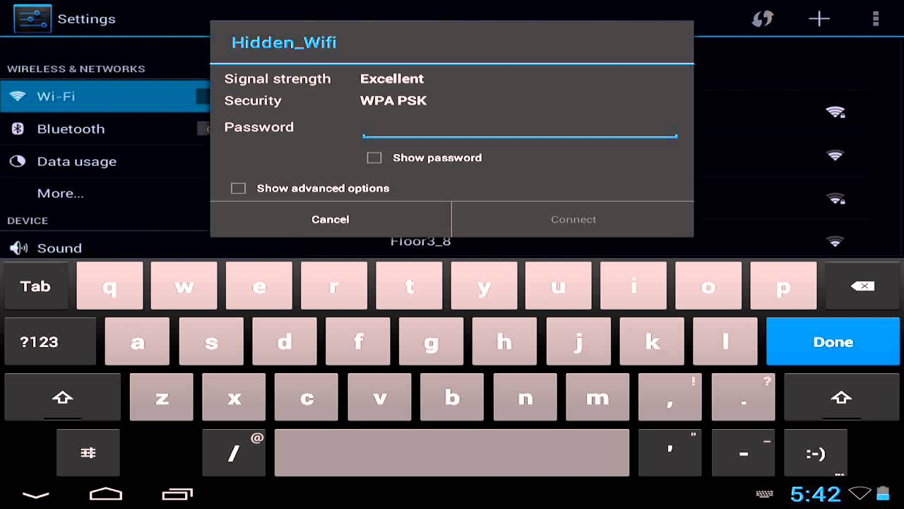 How to connect hidden wifi on android tablet youtube how to connect hidden wifi on android tablet keyboard keysfo Images
